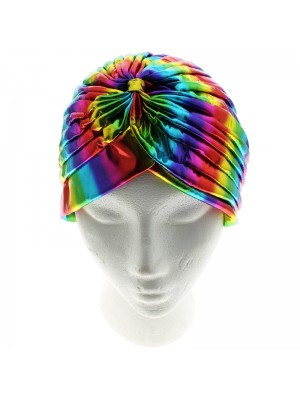 Jersey Turban Hat - Shining Rainbow