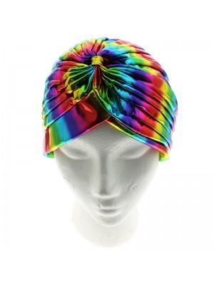 Jersey Turban Hat - Shining Rainbow