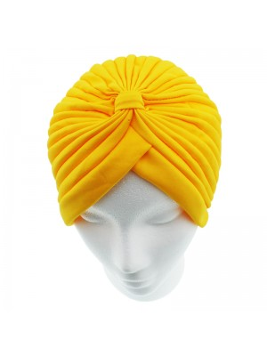 Jersey Turban Hat - Yellow