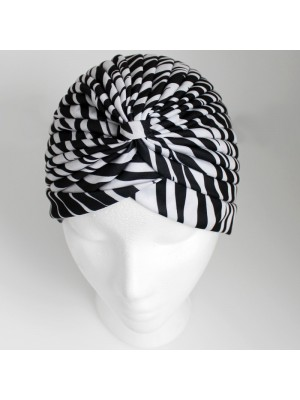 Jersey Turban Hat - Zebra Print