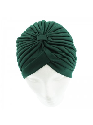 Jersey Turban Hat - Dark Green