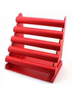 Jewellery Display Stand with 5 Bars - Red
