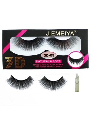 Wholesale Jiemeiya Natural & Soft 3D Handmade Eyelashes - A09
