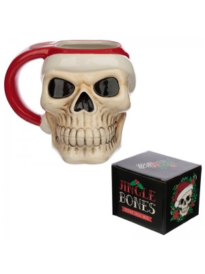 Wholesale Jingle Bones Christmas Skull Ceramic Mug