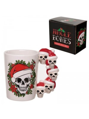 Jingle Bones Christmas Skulls Ceramic Mug