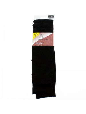 Joanna Gray Trouser Socks - Black (One Size)