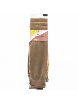 Joanna Gray Trouser Socks - Mink (One Size)