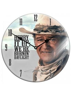 Wholesale John Wayne Glass Clock - 34cm
