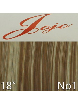 'Jojo' Synthetic Clip-in Hair Extensions 18'' - Colour No. 1