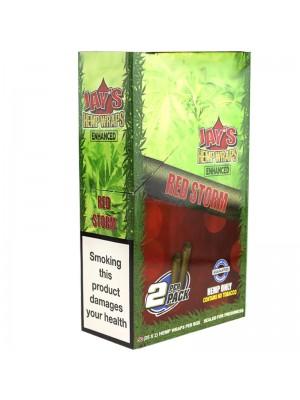 Wholesale Juicy Jay's Double Hemp Wraps - Enhanced Red Storm