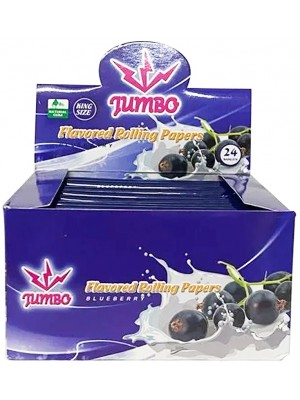 Wholesale Jumbo Flavoured Rolling Papers - Blueberry(24 Booklets)