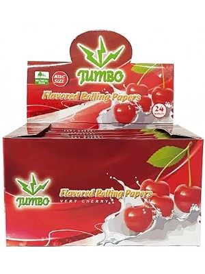 Wholesale Jumbo Flavoured Rolling Papers - Very Cherry(24 Booklets)
