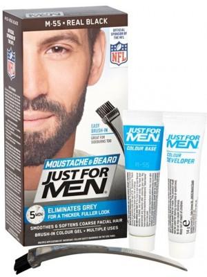 Just For Men Moustache & Beard Hair Colour - Real Black (55)