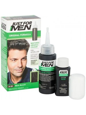 Just For Men Shampoo in Hair Colour - Real Black (H.55)