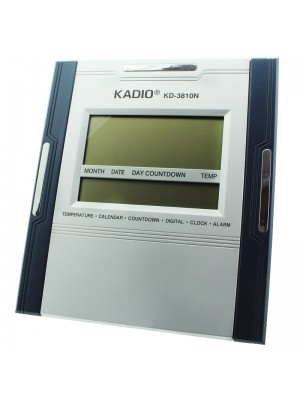 Kadio Wall & Table Temperature Display Clock - 26cm