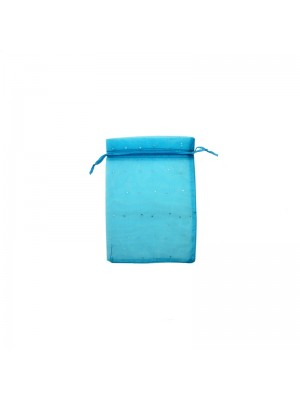 Wholesale Organza Favour Bags - Blue (10 x 12cm)