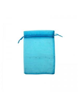 Organza Favour Bags -Turquoise(10 x 12cm)