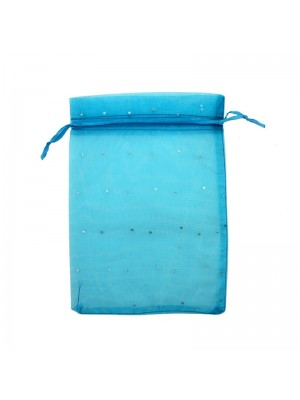 Wholesale Organza Favour Bags - Blue (15 x 20cm)
