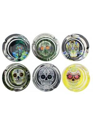 "Sparkys Glass Ashtray "" Kandy Skulls"" - Assorted"