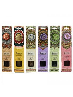 Karma Incense Sticks with Glitter Incense Holder - Assorted