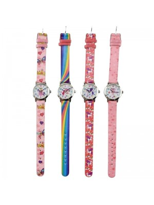 Wholesale Girls Ravel Unicorn Faux Leather Watches- Assorted Design & Colours
