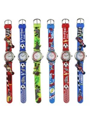 Wholesale Children 3D Cartoon Watches - Assorted Design & Colours