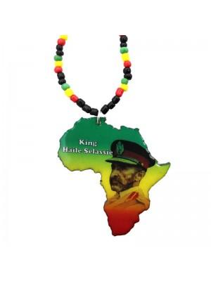 Wholesale King Haile Selassie Design Necklace In Navy Uniform