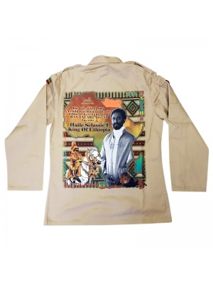 King Of Ethiopia Buttoned Shirt Jacket - Beige (Assorted Sizes)