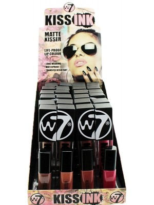 Wholesale W7 Kiss Ink Matte Kisser Lip Gloss - Assorted Colours