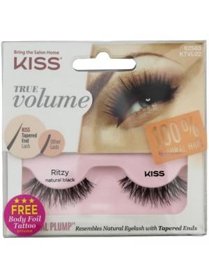 Wholesale Kiss True Volume 100% Natural Hair Eye Lashes - Ritzy Natural Black
