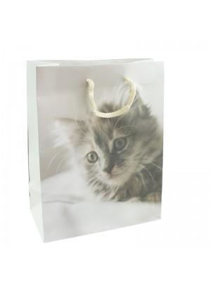 Kitten Print Print Gift Bag - 18 x 23 x 9cm