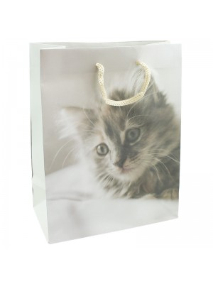 Kitten Print Print Gift Bag - 26 x 32 x 10cm