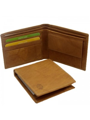 Wholesale Men's Florentino Leather Wallet With 5 Card Slots - Tan