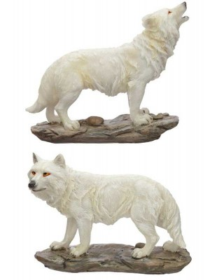 Wholesale Protector of the North Spirit of the Night Wolf Figurine-Assorted
