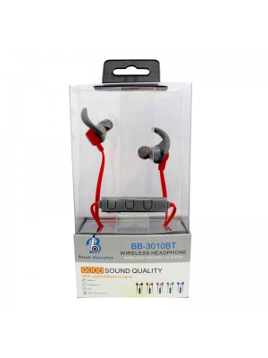 Wholesale Base Booster Bluetooth Headphone BB-3010BT - Red