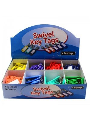 Wholesale Swivel Key Tags - Assorted Colours