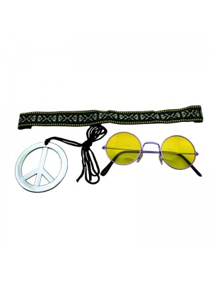 Wholesale Instant Hippie Kit - Yellow
