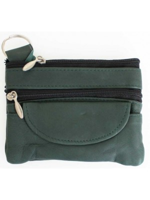 Wholesale Leather Coin Purse- Green(12cm x 9cm)