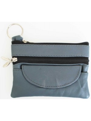 Wholesale Leather Coin Purse- GreY(12cm x 9cm)