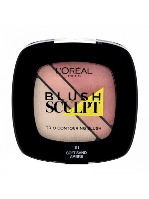 Wholesale L'Oreal Blush Sculpt Trio Contouring Blush - 101 Soft Sand Ambre