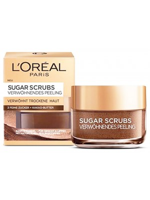 L'Oreal Paris Glow Sugar Scrub With Cocoa Butter For Face & Lips- 50ml