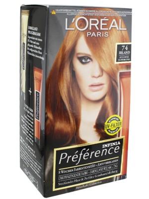 L'Oreal Paris Preference Infinia Hair Colour - Copper Blond(74)