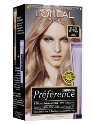 L'Oreal Paris Preference Infinia Hair Colour - Rose Gold(8.23)