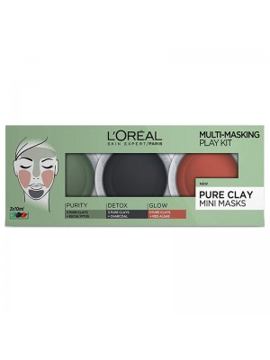 Wholesale L'Oreal Pure Clay Multi-Masking Face Mask Play Kit