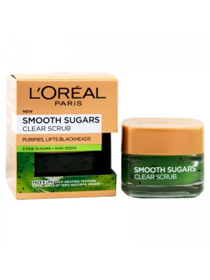 Wholesale L'Oreal Smooth Sugars + Kiwi Seeds Face & Lip Clear Scrub