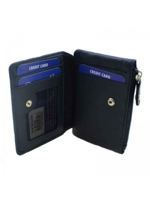 Ladies Small Wallet Purse - Navy Blue