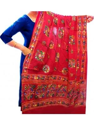 Wholesale Ladies Ethnic Dupatta Aari Embroidery & Foil Mirrors Dupatta