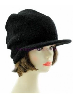 Ladies Angora Peak Hat - Black