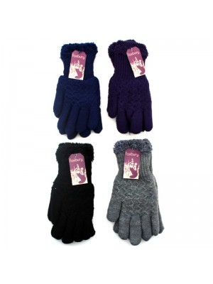 Wholesale Ladies Cozy Gloves - Assorted Colours