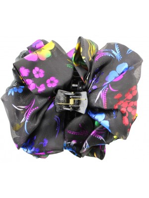 Ladies Fashion Clamp With Colourful Fabric Flower